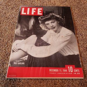 Judy Garland Life Magazine from December 11, 1944